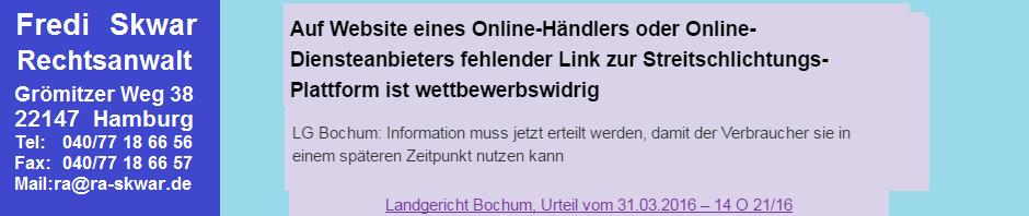 LG Bochum 14 O 21-16